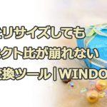 画像をリサイズしてもアスペクト比縦横比が崩れない無料変換ツール|windows版